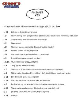 Grimmer Grammar - Types of Sentences