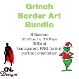 Grinch Border Art Bundle