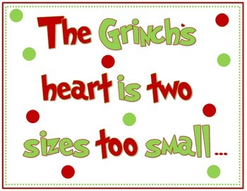 Grinch Bulletin Board Sign 1