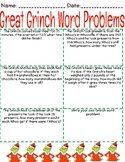Grinch  Christmas Math Word Problems