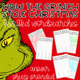 Grinch Christmas Wordsearch