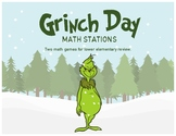 Grinch Day Math Stations