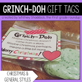 Christmas Gift Tags: Grinch-Doh