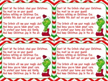 Grinch Dust Cards - Chevron