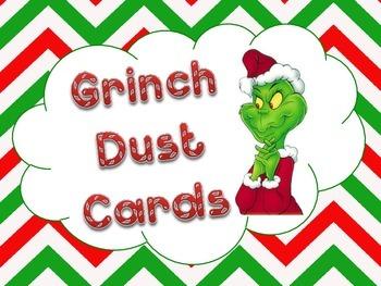 Grinch Dust Cards - Chevron