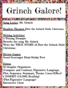 Grinch Galore! A collection of Grinch Activities!
