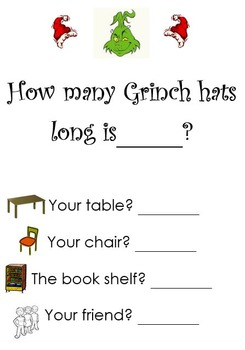 Grinch Hat Measuring Activity