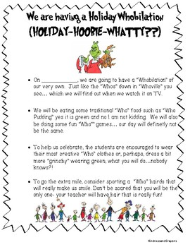 Grinch Holiday Whobilation Note