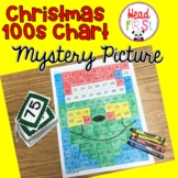 Christmas Hundreds Chart Mystery Picture Math Center