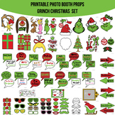 Grinch Inspired Christmas Printable Photo Booth Prop Set