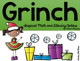 Grinch Inspired Math and Literacy Centers