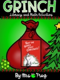 Grinch Literacy and Math Activities Bundle