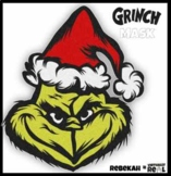 Hand Sketched Grinch Mask & Clip Art for Reader's Theater and Holiday Decoration