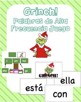 Mr Mean Green Christmas! Palabras de alta frecuencia/Sight word game