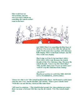 Grinch Parts of Speech Holiday Activity