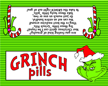 photo about Grinch Pills Free Printable called Grinch Supplements Printables Worksheets Lecturers Spend Instructors