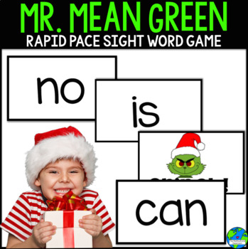 Mr Mean Green Xmas Rapid Pace Sight word Game: Reading Street Sight Words