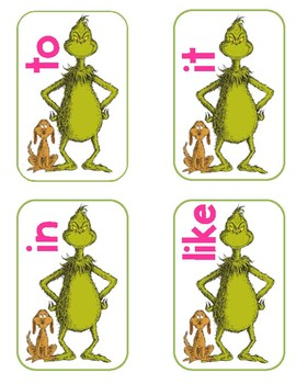 Grinch Sight Word Activity