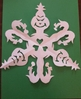 Grinch Snowflake Template