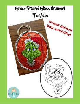 Grinch Day Stained Glass Ornaments