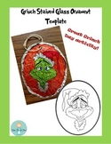 Grinch Day Stained Glass Christmas Ornaments