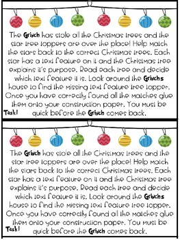 Grinch Theme Room Transformation Activities