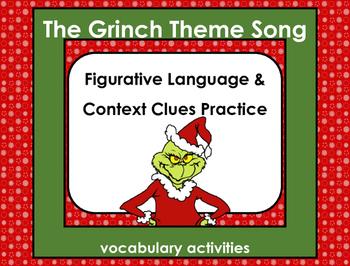 Grinch Vocabulary Activities