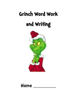 Grinch Word Word and Writing