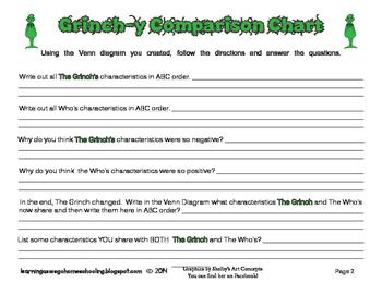 Grinch y comparison chart venn diagram language arts tpt grinch y comparison chart venn diagram language arts ccuart Gallery
