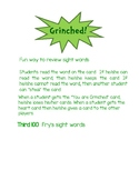Grinched Sight Word Game Fry's Third Hundred Words