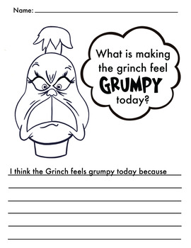Grinchmas: Grumpy Grinch Writing Activity