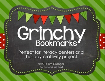 Grinchy Bookmarks