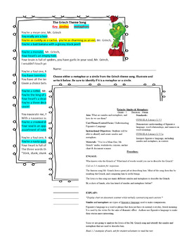 Grinchy Similies and Metaphors