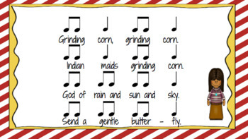 Grinding Corn - A song for beginning rhythm notes