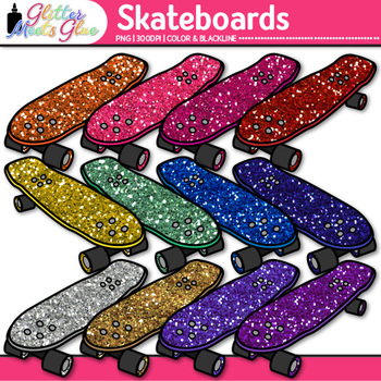 Rainbow Skateboard Clip Art | Sports Equipment for Physical Education Teachers