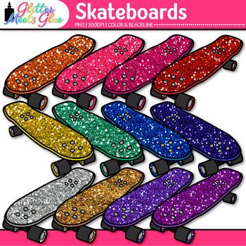 Rainbow Skateboard Clip Art | Sports Equipment for Physical Education Teachers