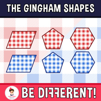 Gingham Shapes Clipart
