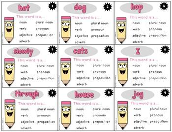 Grinning for Grammar Task Cards
