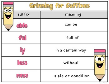 Grinning for Suffixes