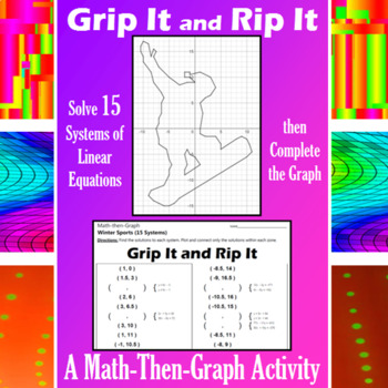 Grip It and Rip It - 15 Systems & Coordinate Graphing Activity