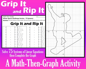 Grip It and Rip It - Challenge Vers. - 75 Systems & Coordinate Graphing Activity
