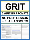 Grit Activities: 5 Writing Prompts