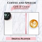Grit & Grace Rose Gold Digital Planner
