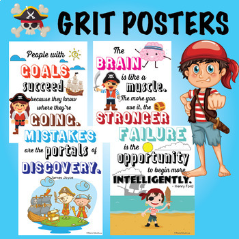 Grit and Growth Mindset (Pirates Theme)