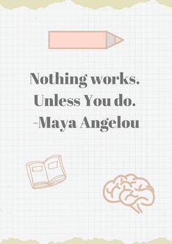 Grit Poster-Maya Angelou