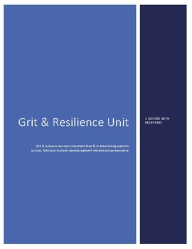 Grit & Resilience Unit - 2 Lesson
