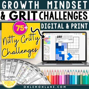 Grit and Growth Mindset Activity / Application & Reflection MEGA BUNDLE 1-6
