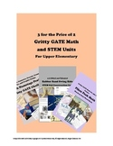 Gritty Gifted and Talented MATH and STEAM Units -- 30 Hours Units x 3
