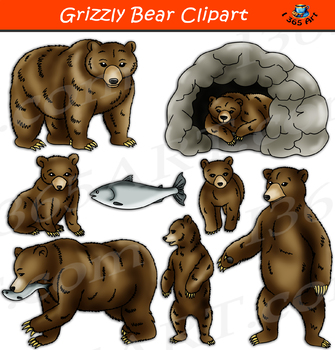 Bear realistic. Grizzly clipart