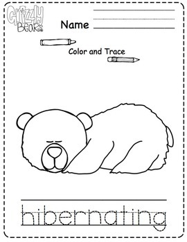 Grizzly Bear Printable